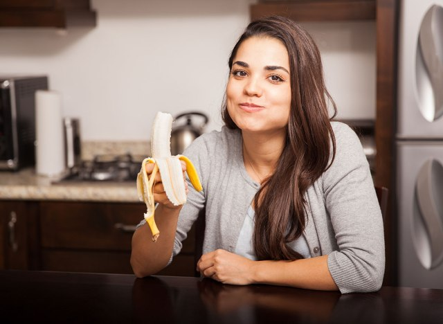 chewing banana