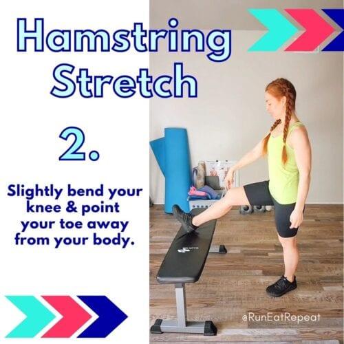Runner Hamstring Stretch