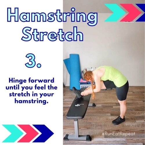 Hamstring Stretch for Runners Tip